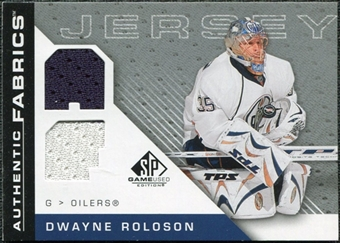 2007/08 Upper Deck SP Game Used Authentic Fabrics #AFDR Dwayne Roloson