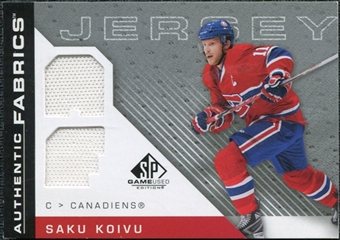 2007/08 Upper Deck SP Game Used Authentic Fabrics #AFSK Saku Koivu