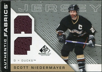 2007/08 Upper Deck SP Game Used Authentic Fabrics #AFSN Scott Niedermayer