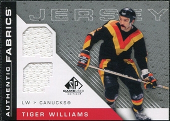 2007/08 Upper Deck SP Game Used Authentic Fabrics #AFTW Tiger Williams