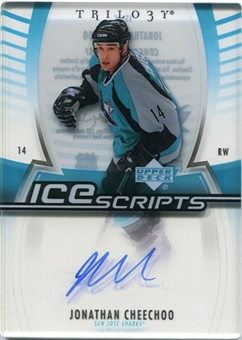 2006/07 Upper Deck Trilogy Ice Scripts #ISJC Jonathan Cheechoo Autograph