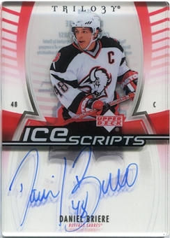 2006/07 Upper Deck Trilogy Ice Scripts #ISDB Daniel Briere Autograph