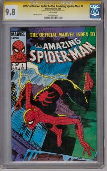 Offical Marvel Index to the Amazing Spider-Man #1 CGC 9.8 (W) Stan Lee Signature Series *1177394010*