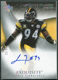 2007 Upper Deck Exquisite Collection Gold #91 Lawrence Timmons RC Autograph 15/60