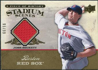 2008 Upper Deck UD A Piece of History Stadium Scenes Jersey Gold #SS7 Josh Beckett /99