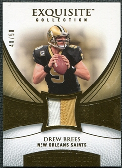 2007 Upper Deck Exquisite Collection Patch Gold #DB Drew Brees 48/50