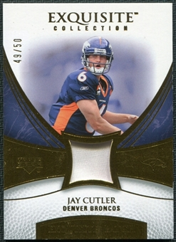 2007 Upper Deck Exquisite Collection Patch Gold #JC Jay Cutler /50