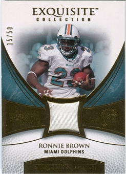 2007 Upper Deck Exquisite Collection Patch Gold #RO Ronnie Brown /50