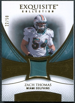 2007 Upper Deck Exquisite Collection Patch Gold #ZT Zach Thomas 22/50