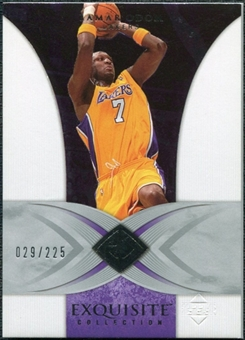 2006/07 Upper Deck Exquisite Collection #19 Lamar Odom /225