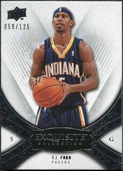 2008/09 Upper Deck Exquisite Collection #39 T.J. Ford /125