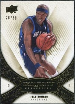 2008/09 Upper Deck Exquisite Collection Gold #30 Josh Howard /50
