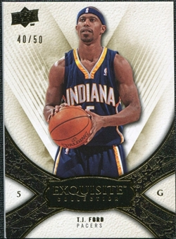 2008/09 Upper Deck Exquisite Collection Gold #39 T.J. Ford /50