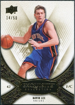 2008/09 Upper Deck Exquisite Collection Gold #42 David Lee /50