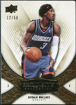2008/09 Upper Deck Exquisite Collection Gold #53 Gerald Wallace /50
