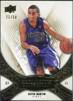 2008/09 Upper Deck Exquisite Collection Gold #58 Kevin Martin /50