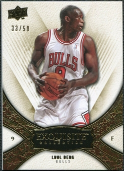 2008/09 Upper Deck Exquisite Collection Gold #59 Luol Deng /50