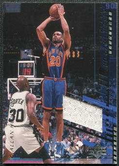 2000/01 Upper Deck Game Jerseys 2 #AHC Allan Houston