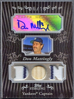 2008 Topps Sterling Baseball Don Mattingly Bat Jersey Auto #06/10
