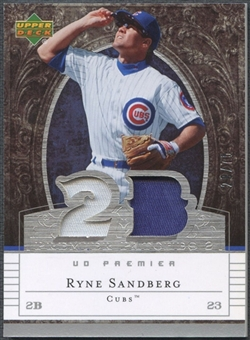 2007 Upper Deck Premier Baseball Ryne Sandberg Patch #28/75