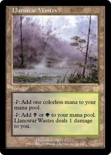 Magic the Gathering Apocalypse Single Llanowar Wastes - SLIGHT PLAY (SP)