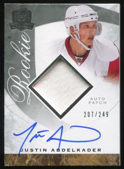 2008/09 Upper Deck The Cup #98 Justin Abdelkader Rookie Patch Auto 207/249