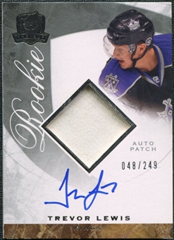 2008/09 Upper Deck The Cup #121 Trevor Lewis Rookie Patch Auto /249