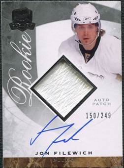 2008/09 Upper Deck The Cup #132 Jonathan Filewich Rookie Patch Auto /249