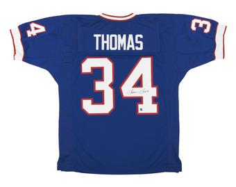 Thurman Thomas Autographed Buffalo Bills Blue Football Jersey