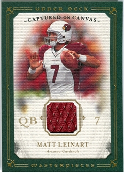 2008 Upper Deck UD Masterpieces Captured on Canvas Jerseys #CC50 Matt Leinart
