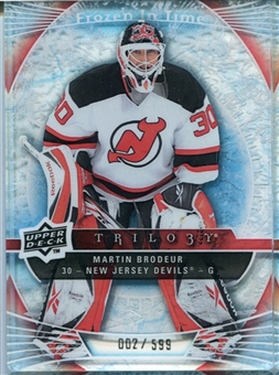 2009/10 Upper Deck Trilogy #111 Martin Brodeur FIT /599