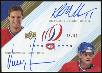 2008/09 Upper Deck Montreal Canadiens Centennial Signatures Dual #MD Kirk Muller Vincent Damphousse Auto 25/50