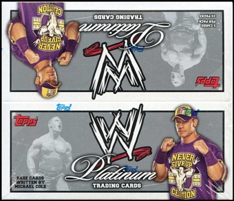 2010 Topps WWE Platinum Wrestling Retail 24-Pack Box