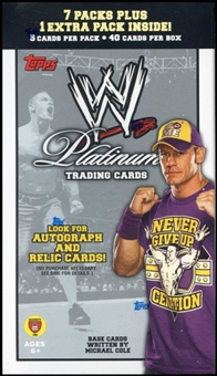 2010 Topps WWE Platinum Wrestling Blaster 8-Pack Box