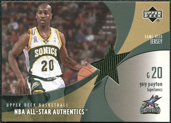 2002/03 Upper Deck All-Star Authentics Jerseys #GPAJ Gary Payton SP /45