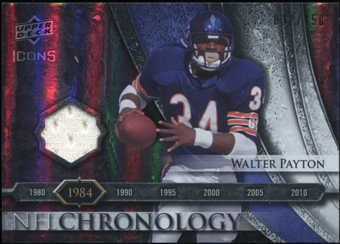 2008 Upper Deck Icons NFL Chronology Jersey Silver #CHR13 Walter Payton 32/150