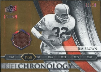 2008 Upper Deck Icons NFL Chronology Jersey Gold #CHR2 Jim Brown 39/50