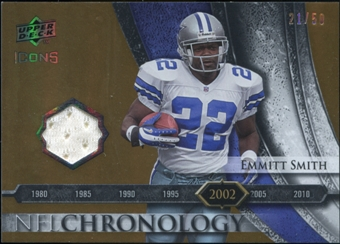 2008 Upper Deck Icons NFL Chronology Jersey Gold #CHR28 Emmitt Smith 21/50