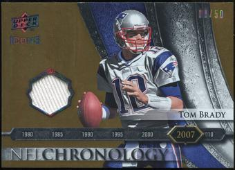 2008 Upper Deck Icons NFL Chronology Jersey Gold #CHR39 Tom Brady /50