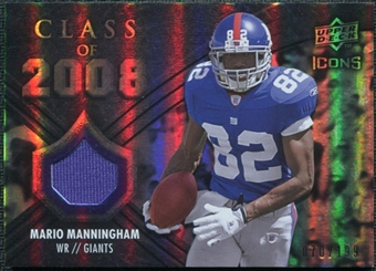 2008 Upper Deck Icons Class of 2008 Jersey Silver #CO27 Mario Manningham /199
