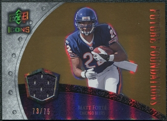 2008 Upper Deck Icons Future Foundations Jersey Gold #FF22 Matt Forte /75