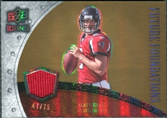 2008 Upper Deck Icons Future Foundations Jersey Gold #FF23 Matt Ryan /75