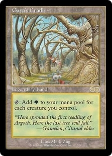 Magic the Gathering Urza's Saga Single Gaea's Cradle - NEAR MINT (NM)