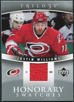 2006/07 Upper Deck Trilogy Honorary Swatches #HSJW Justin Williams
