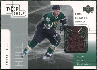 2001/02 Upper Deck UD Top Shelf Jerseys #BH Brett Hull Stanley Cup