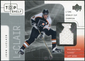 2001/02 Upper Deck UD Top Shelf Jerseys #JL John LeClair SC