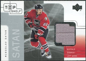 2001/02 Upper Deck UD Top Shelf Jerseys #TJMS Miroslav Satan Update