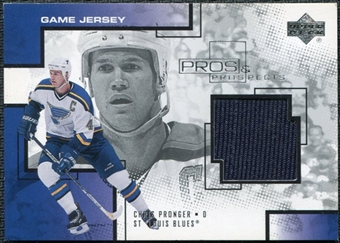 2000/01 Upper Deck UD Pros and Prospects Game Jerseys #CP Chris Pronger