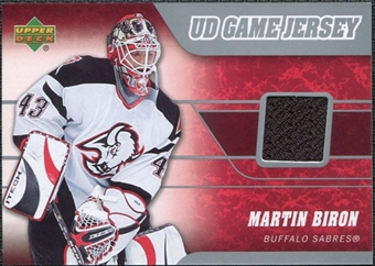 2006/07 Upper Deck Game Jerseys #JBI Martin Biron
