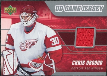 2006/07 Upper Deck Game Jerseys #JCO Chris Osgood